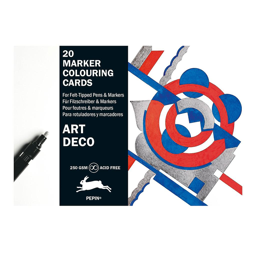 Marker colouring cards art deco tranquillo for Art deco online shop
