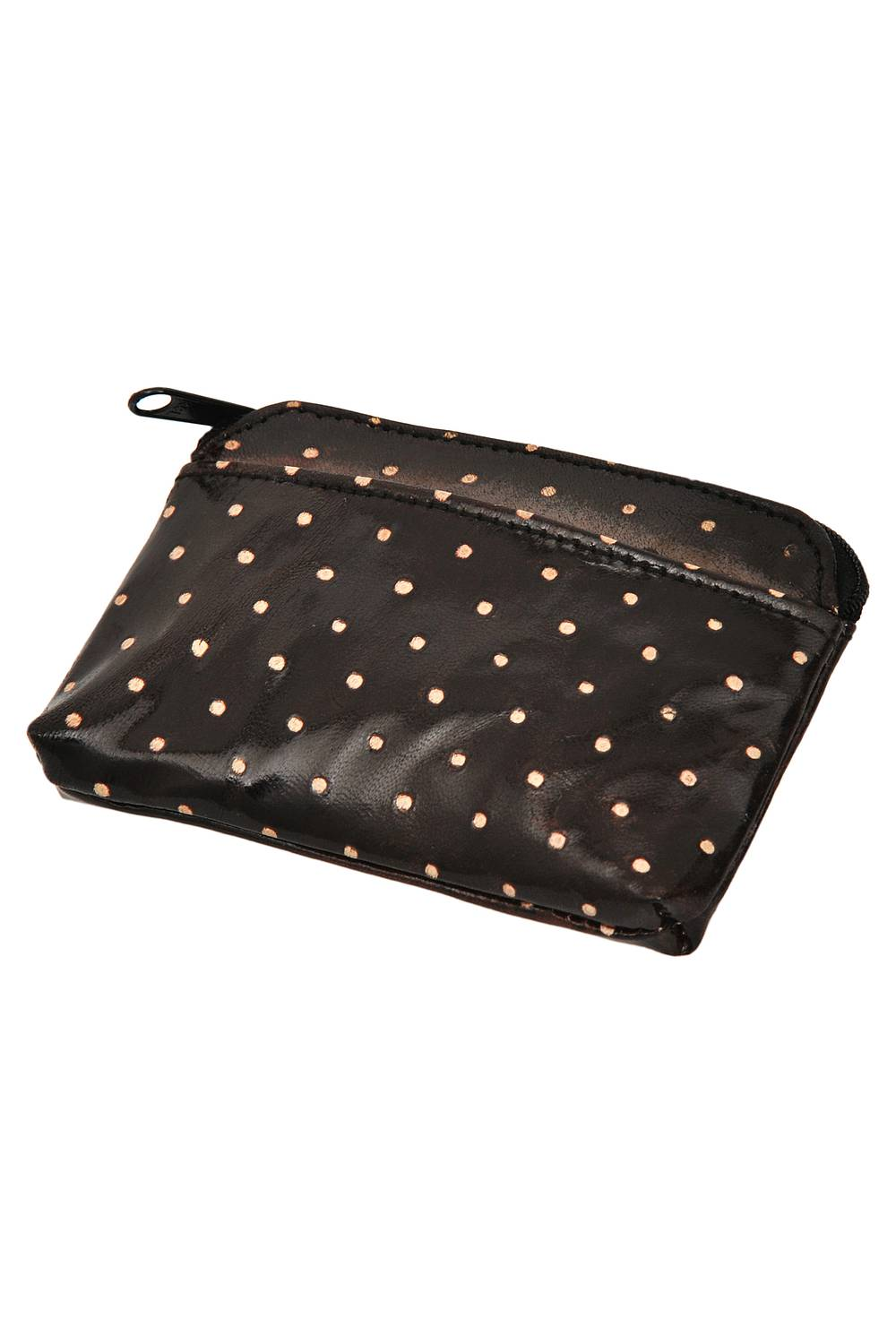 Leather purse DOTTA black