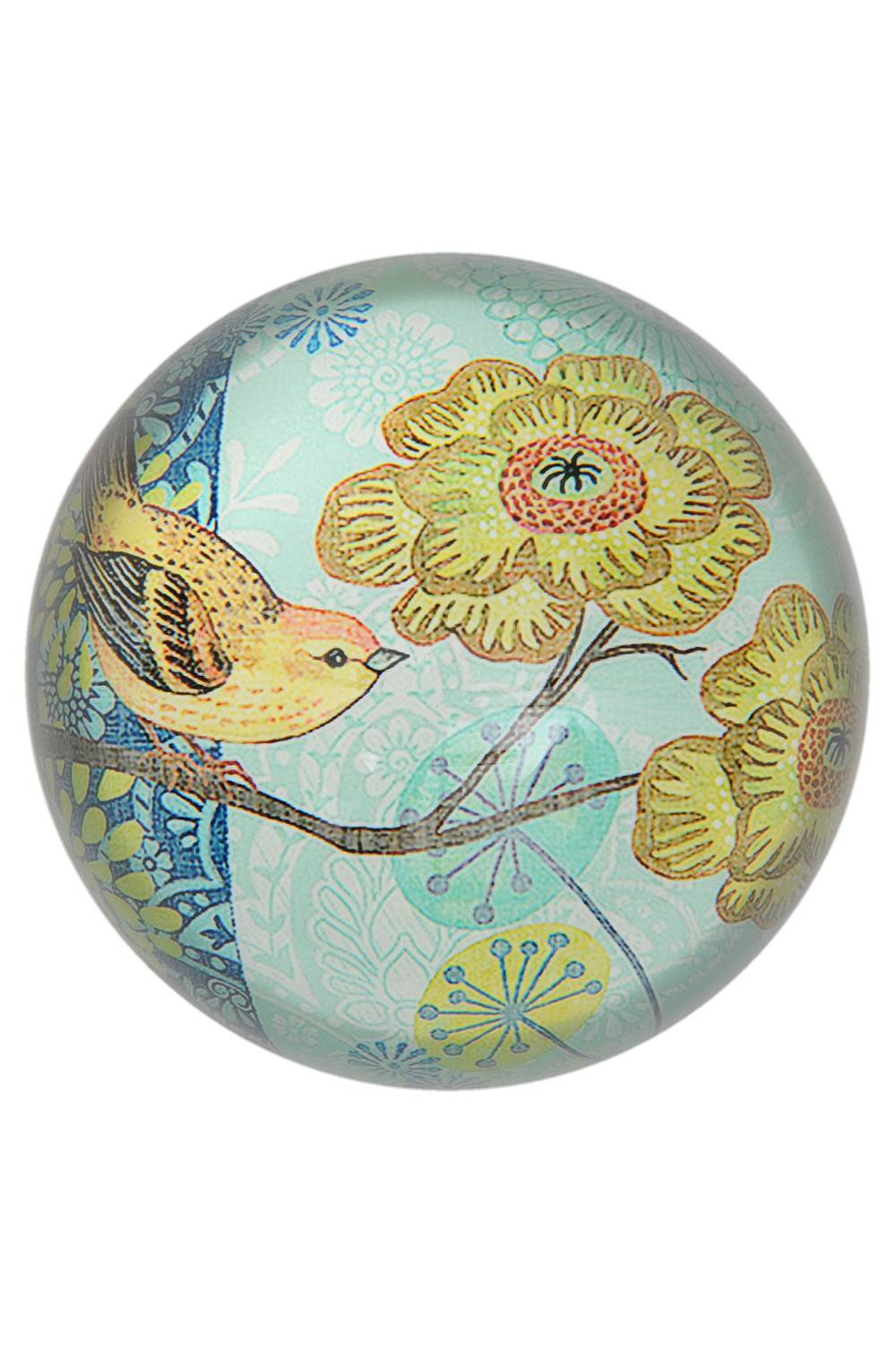 Paperweight BIRD yellow