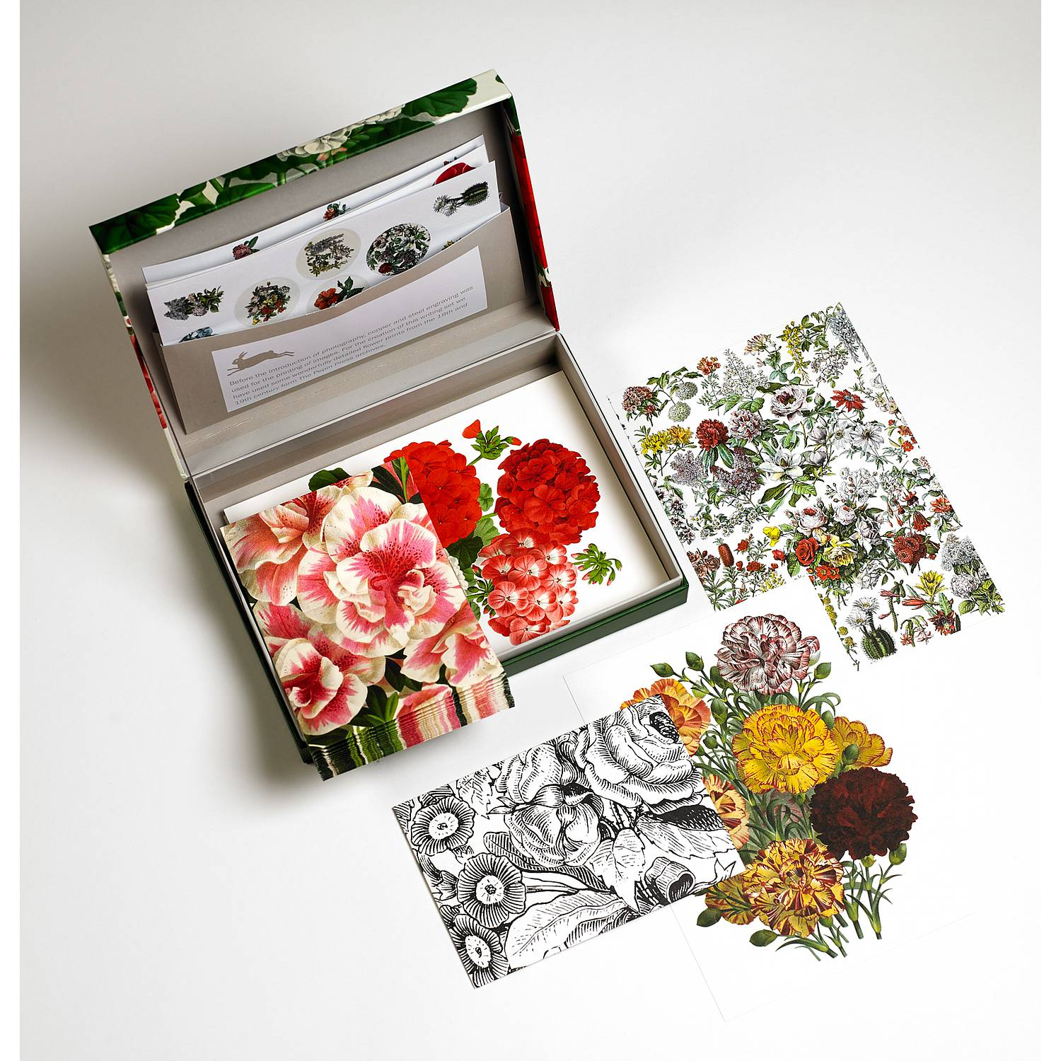 Letter Writing Set - Flower Prints - Briefpapierset