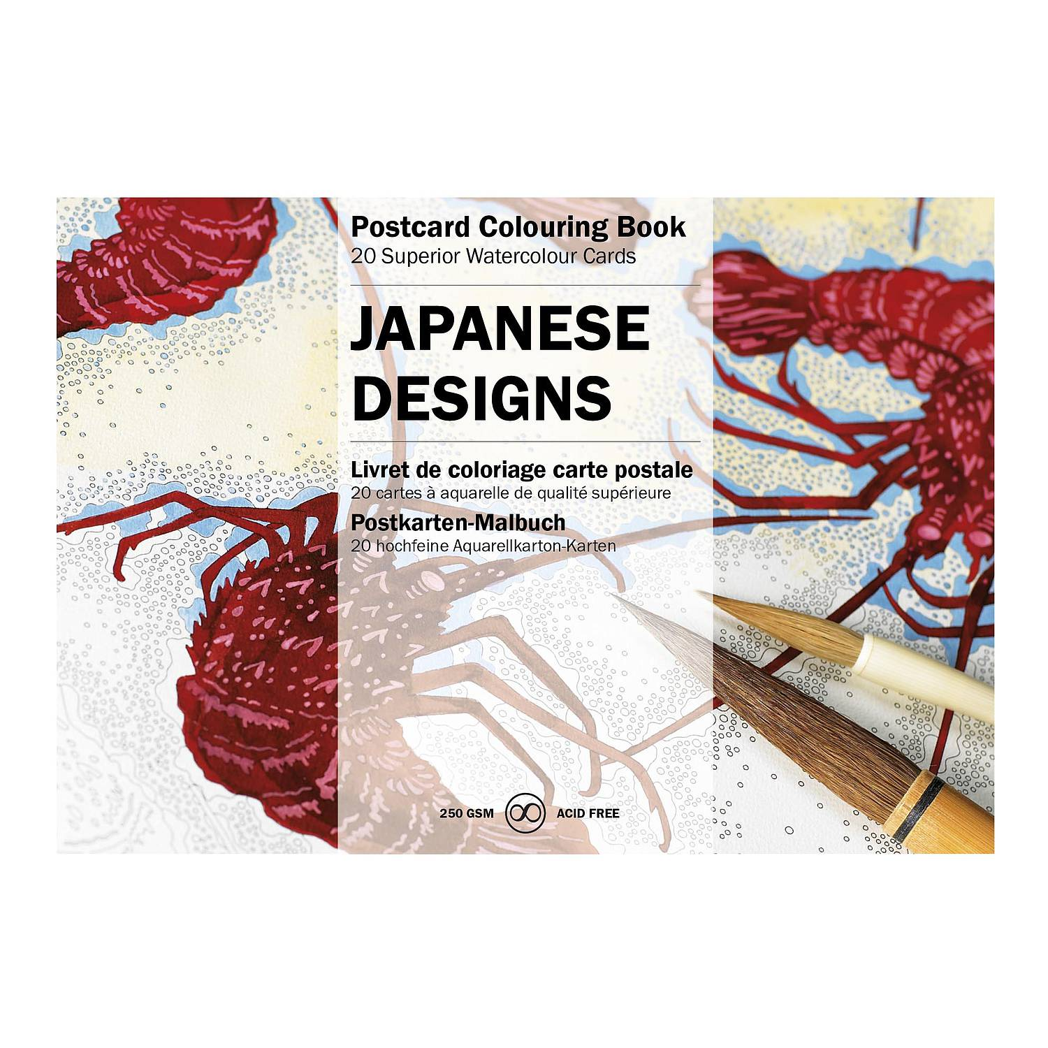 Postcard Colouring Book - Japanese Designs