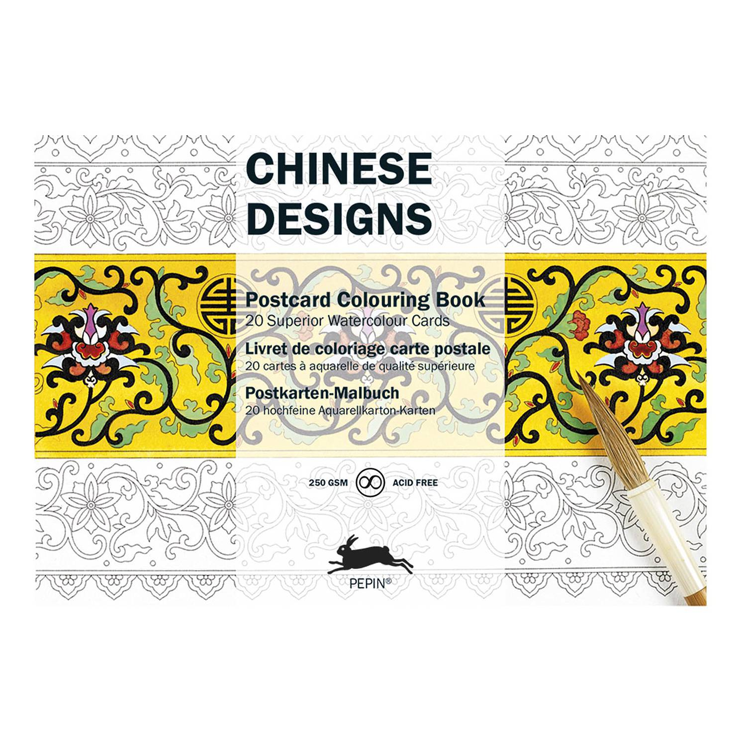 Postcard Colouring Book - Chinese Designs