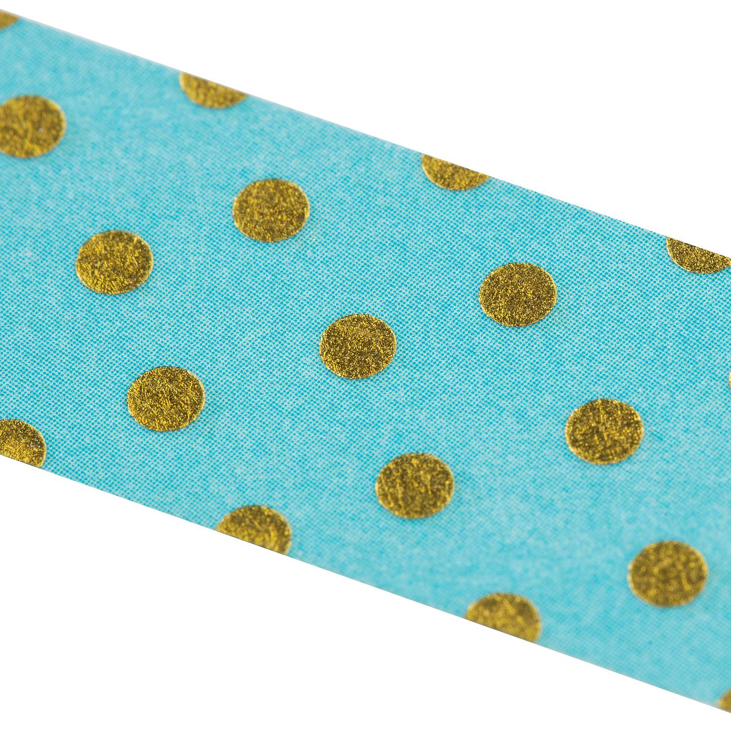 Washi Tape - Goldtupfen blau