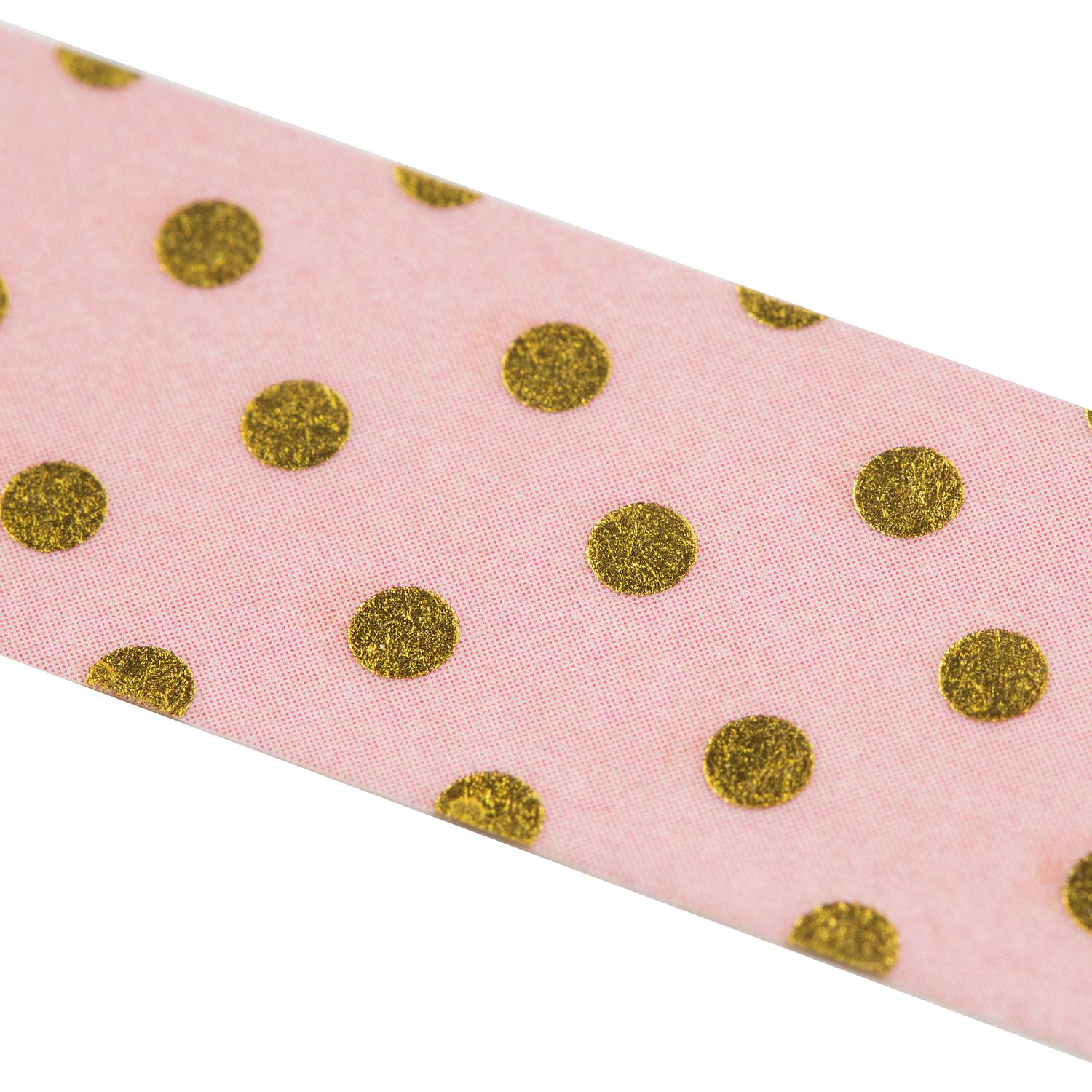 Washi Tape - Goldtupfen rosa