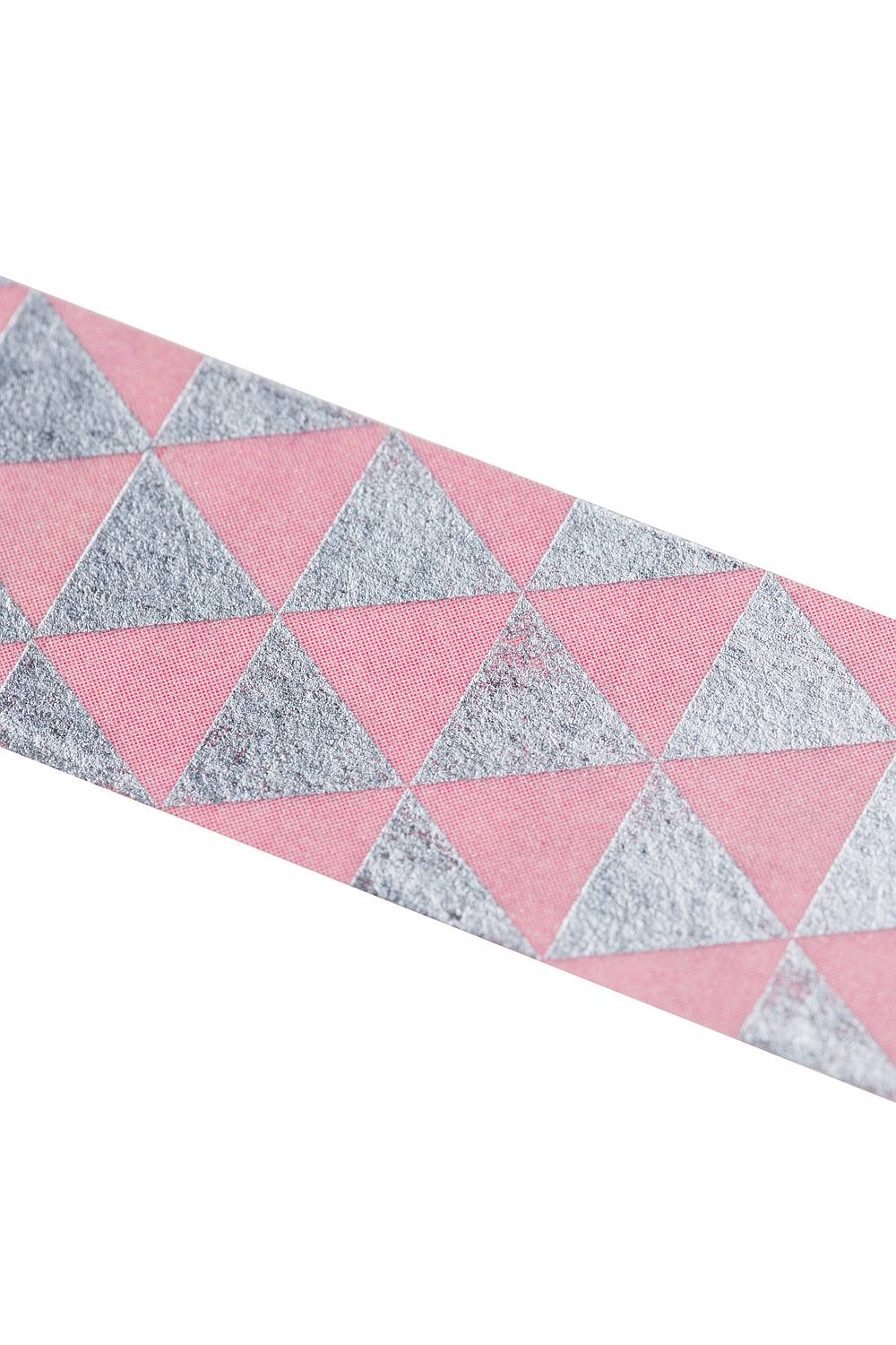 Washi Tape SILVER TRIANGLE rose