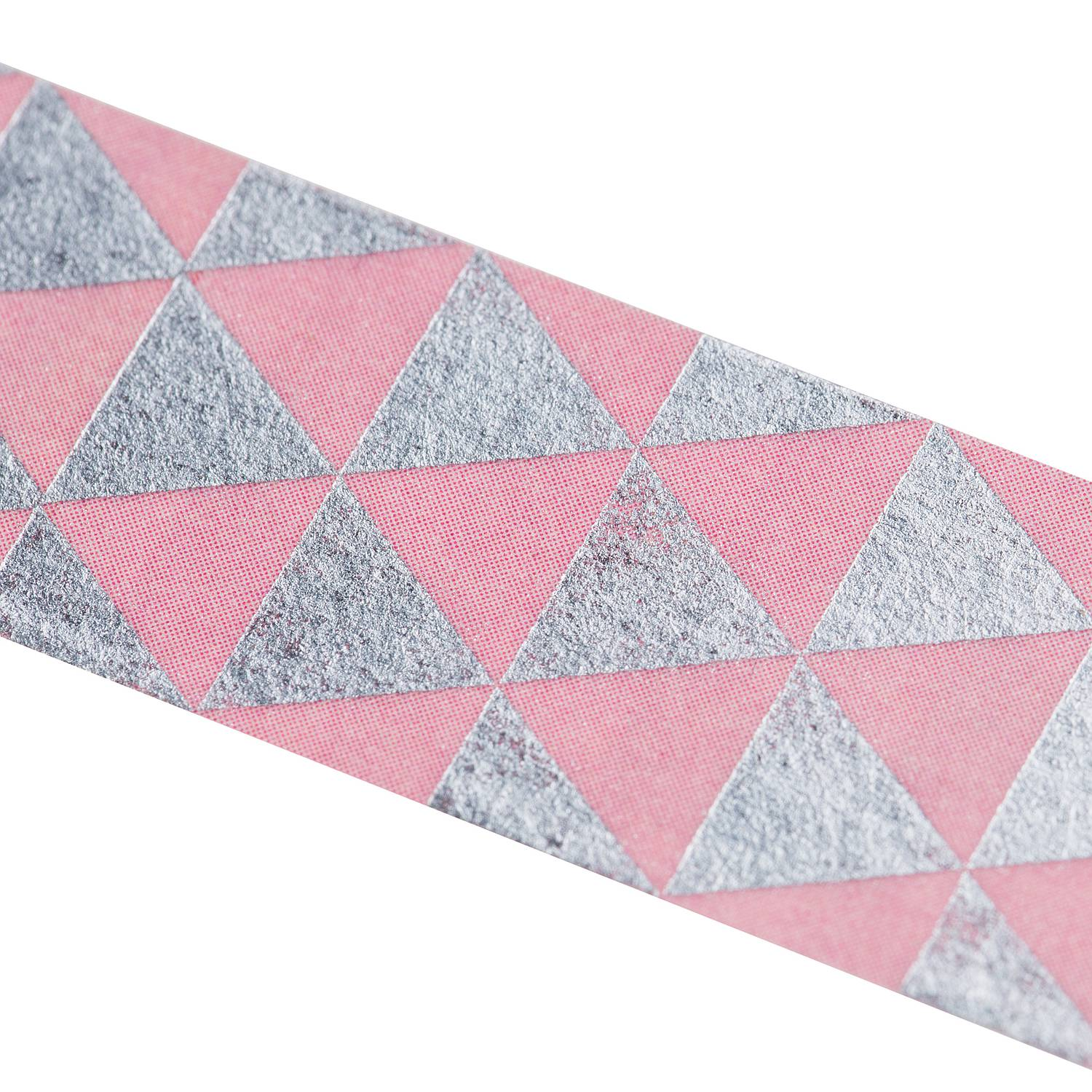 Washi Tape - Silberne Triangel, rosa