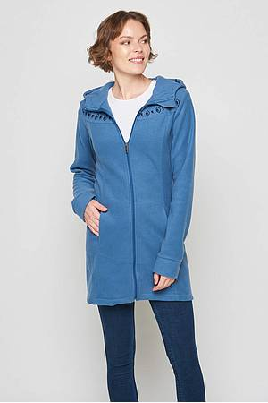 Fleece coat Kuma teal