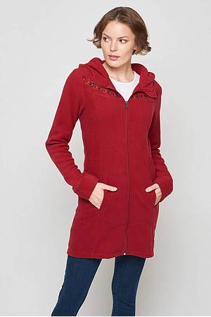Fleece coat Kuma burgundy