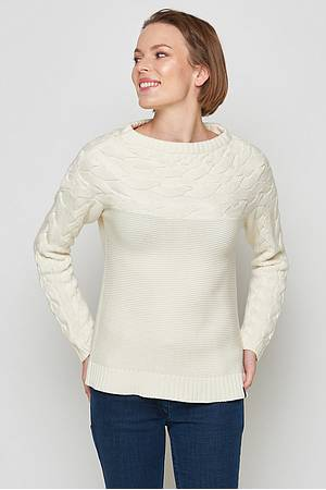 Strickpullover Unuk off white