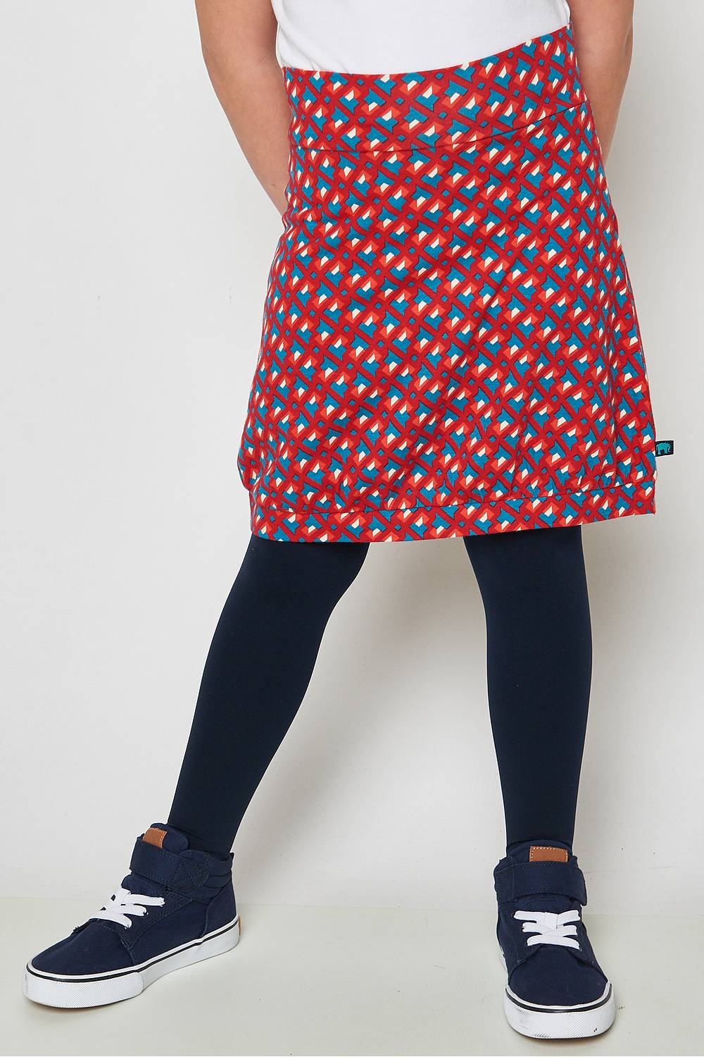 Jersey skirt Chamukuy red