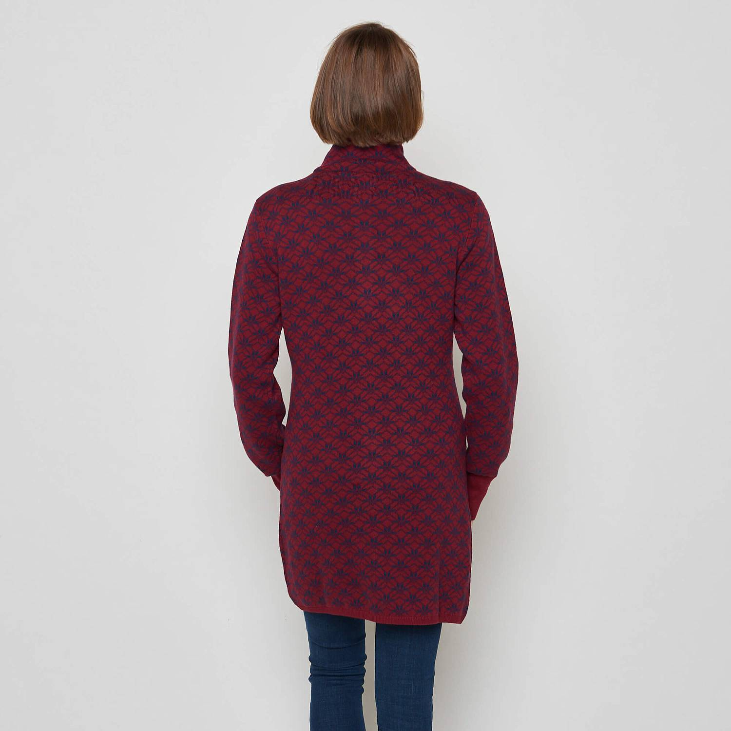 Strickmantel Altais burgundy