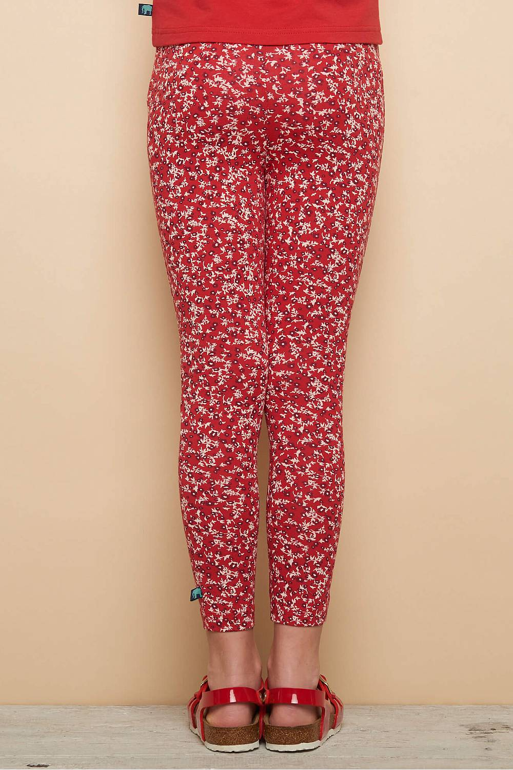 Jersey-Leggings KOALA red florecita