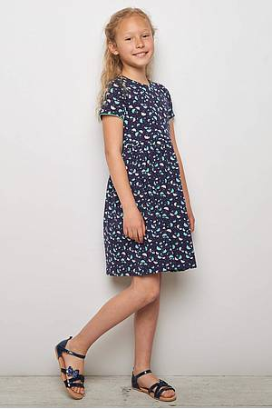 Jersey-Kleid BETTINA navy ray
