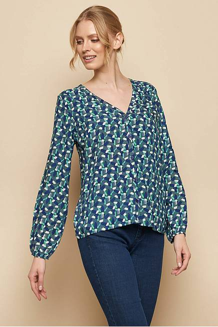 EcoVero™ Bluse DELIHA green candy