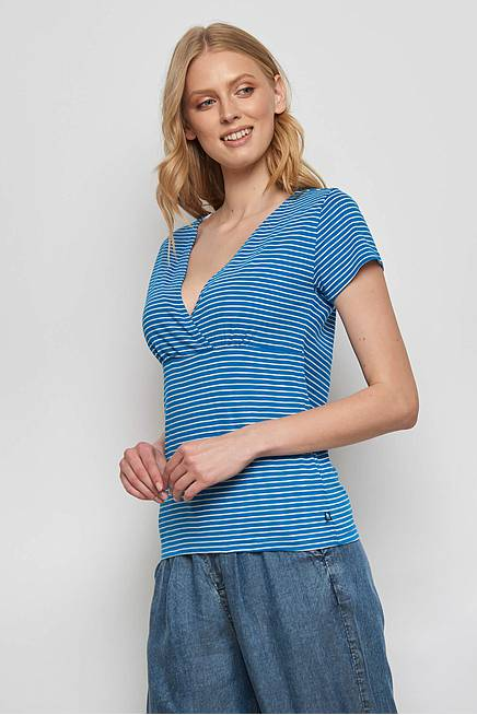 Slub Jersey  Shirt ALUNA blue stripes
