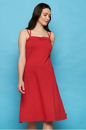 Jersey-Midikleid MINNA red
