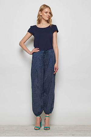 Cambric pants ETANA blue ocean