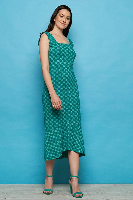 Jersey Midikleid NAISULA green ball