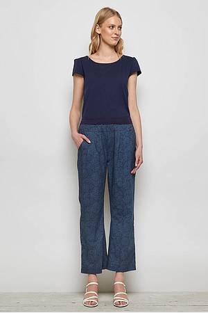 Cambric pants GANNET blue ocean