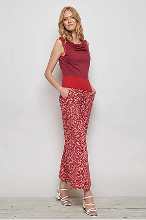 Jersey pants MUFARO red florecita