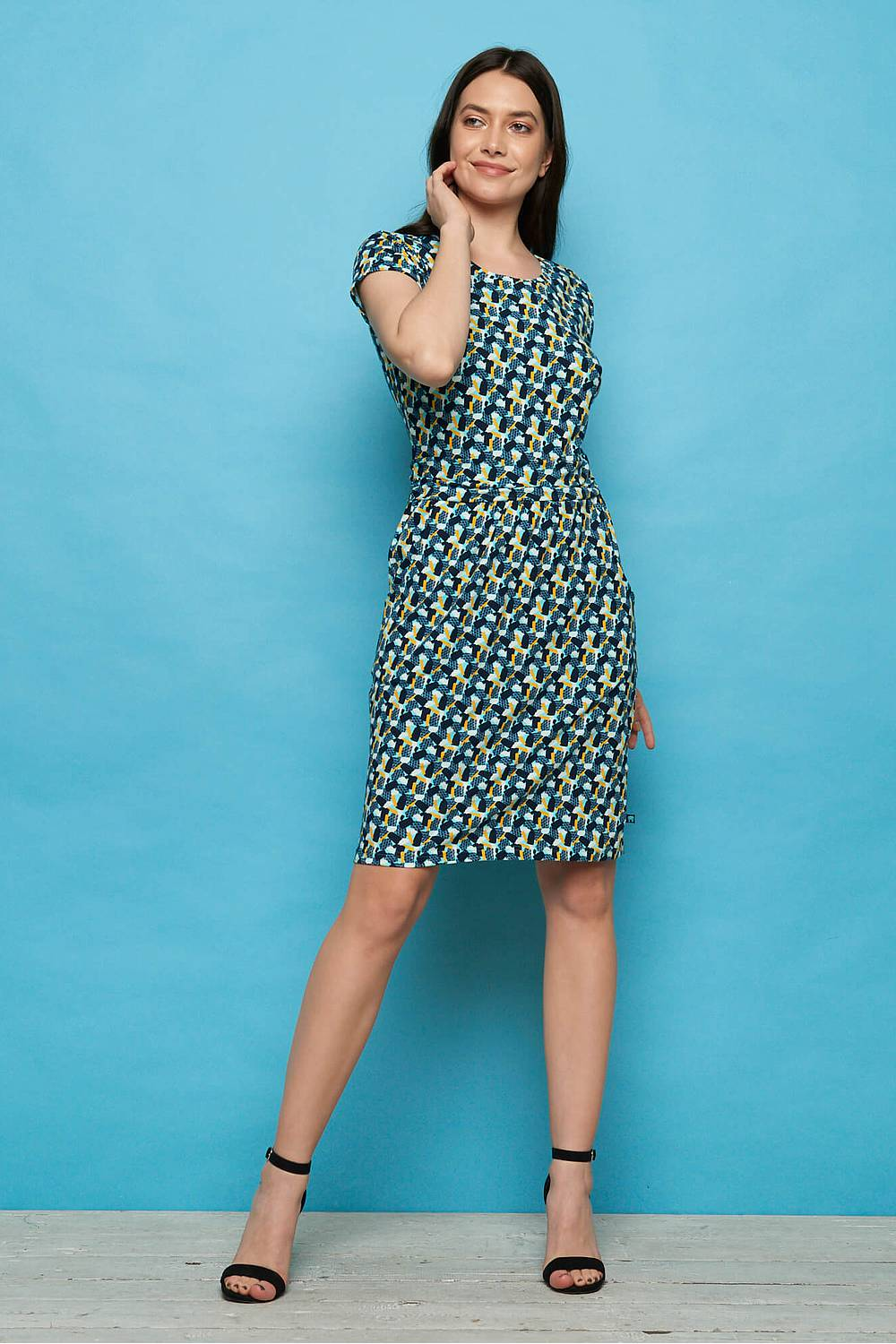 Jersey-Kleid LEONORE blue candy