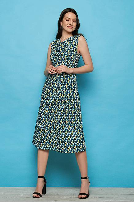 Jersey Midi Dress ANISA blue candy