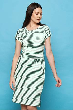 Slub‑Jersey-Kleid »Taya« green stripes
