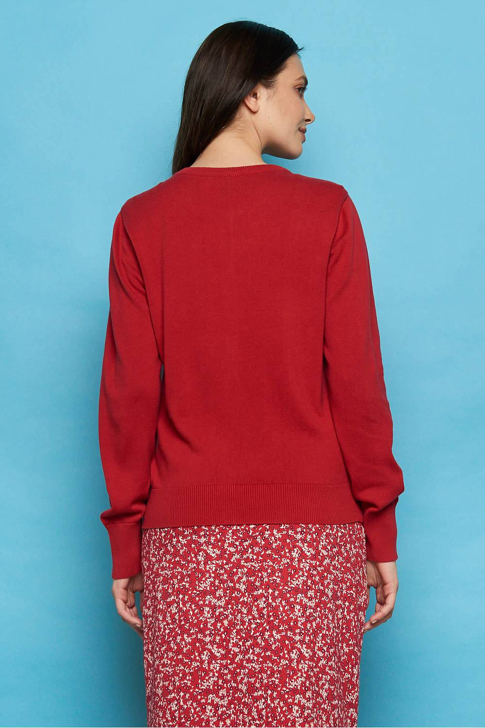 Strickjacke LAMIA red