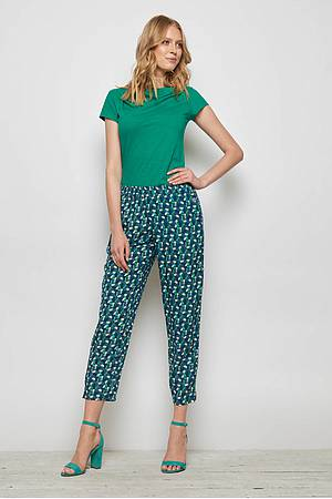 EcoVero™ pants ZWENA green candy