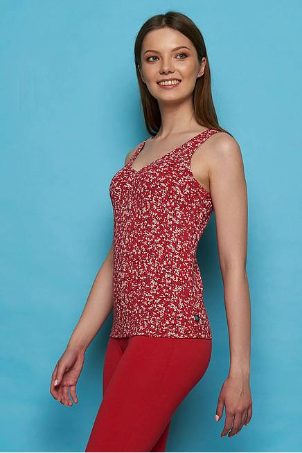 Jersey Top MERGA red florecita