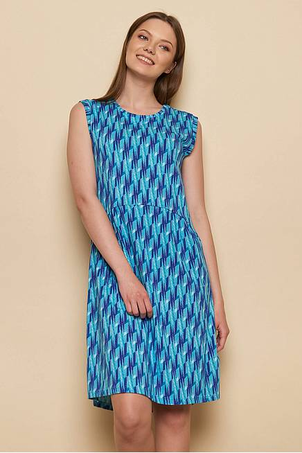 Jersey Kleid ANNELIESE aqua flash
