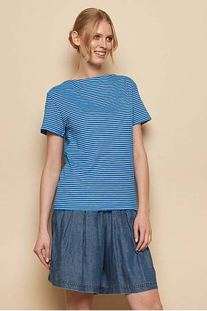 Slub Jersey-Shirt MABOU blue stripes