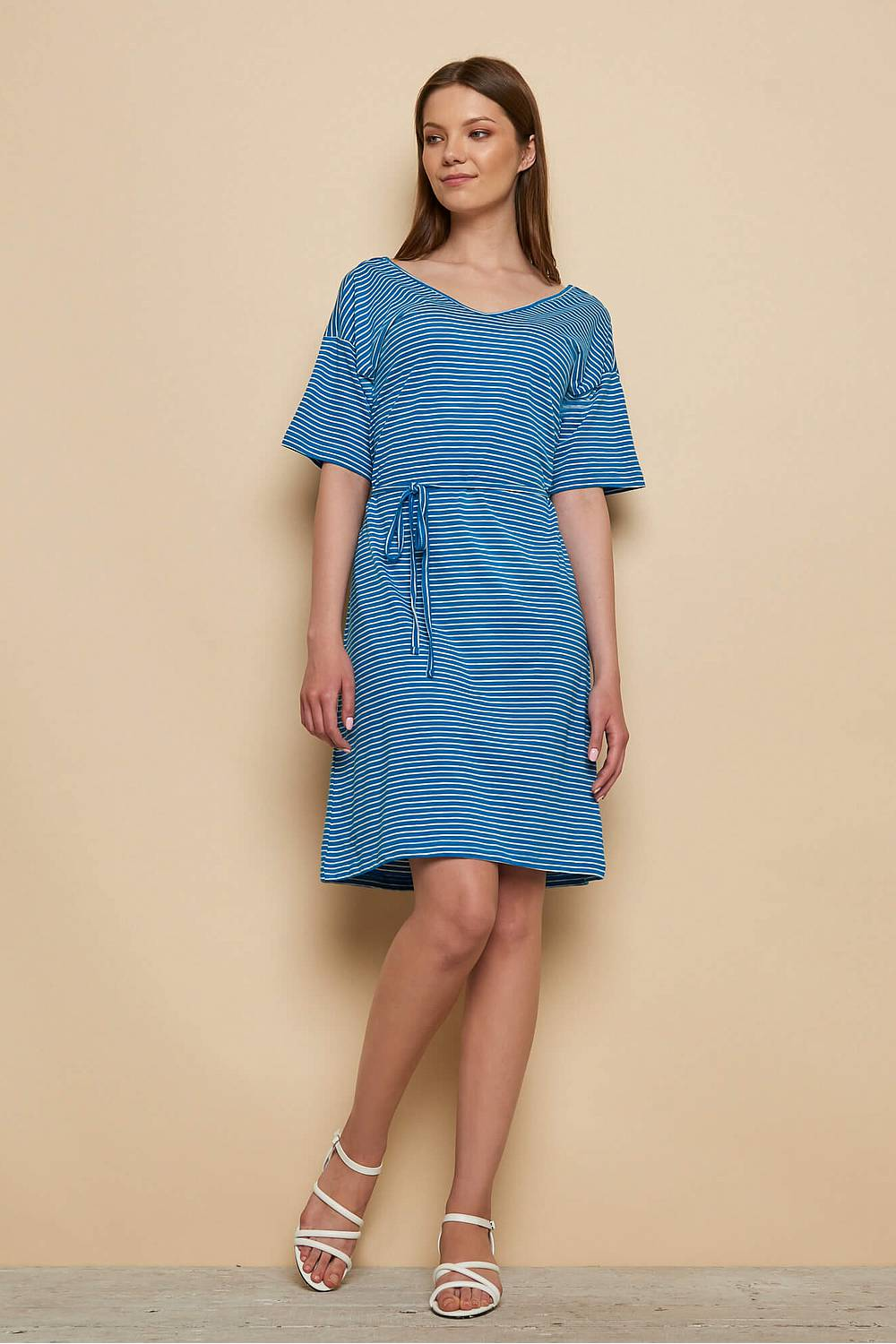 Slub Jersey Kleid ABA blue stripes