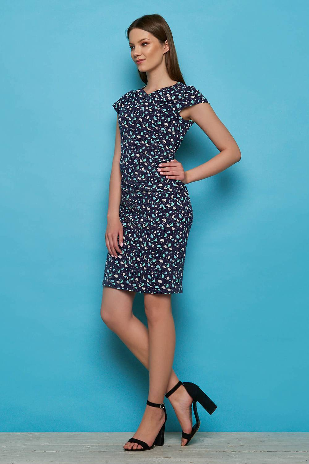 Jersey dress TUMELO navy ray