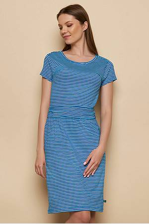 Slub‑Jersey-Kleid »Taya« blue stripes