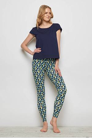 Jersey-Leggings FRANCOA blue candy
