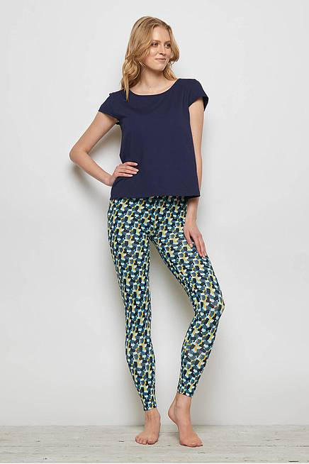 Jersey Leggings FRANCOA blue candy