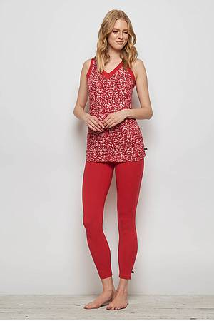 Jersey-Leggings FRANCOA red