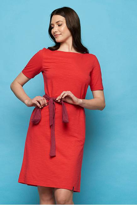 Slub Jersey  Dress NUBIA red