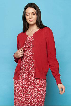 Knit cardigan ASHA red