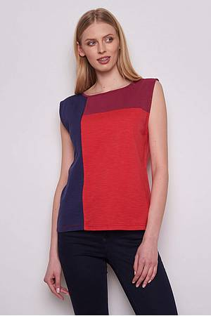 Slub‑Jersey-Top »Amalie« red