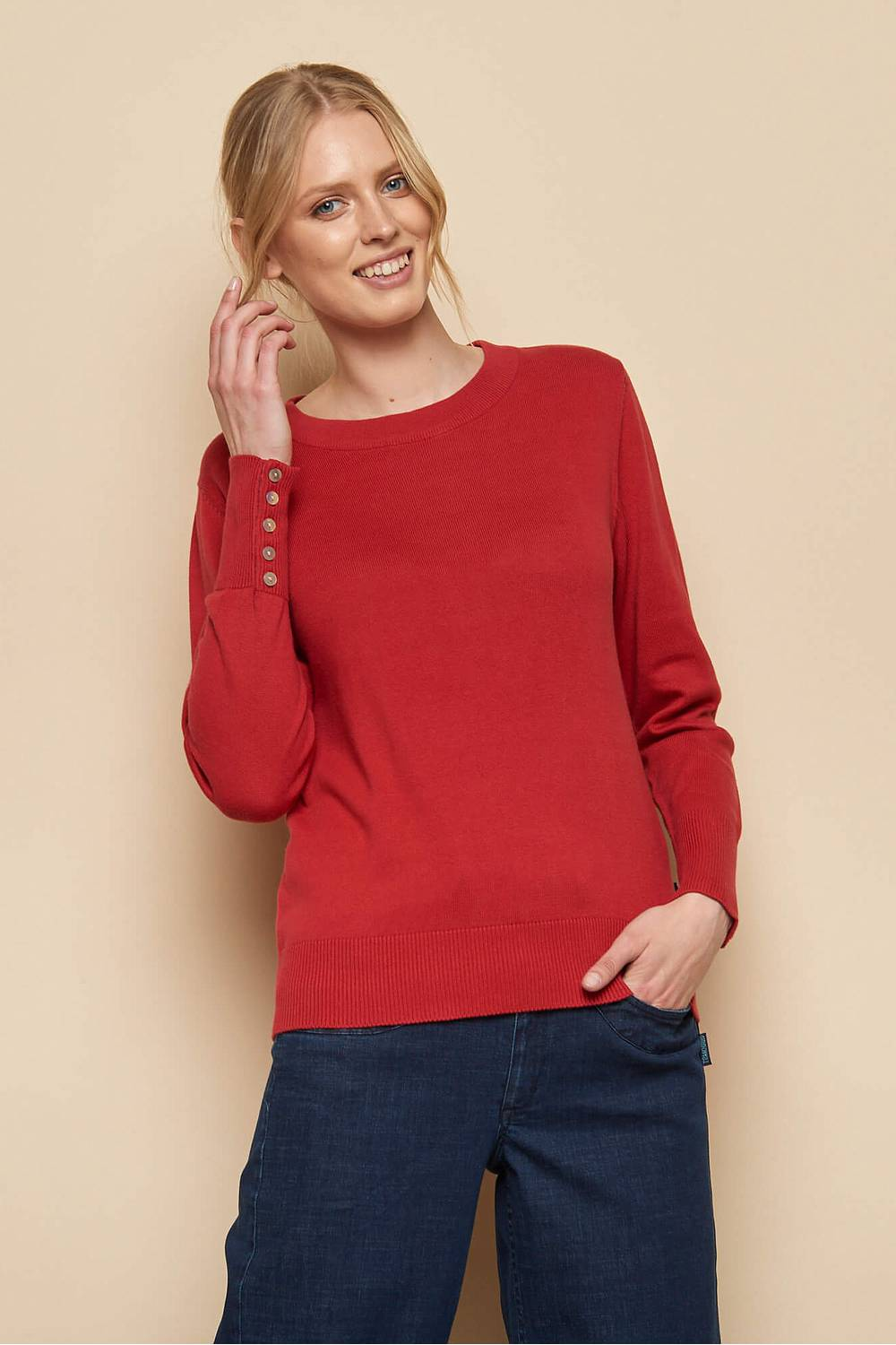 Knitted Sweater SACHI red
