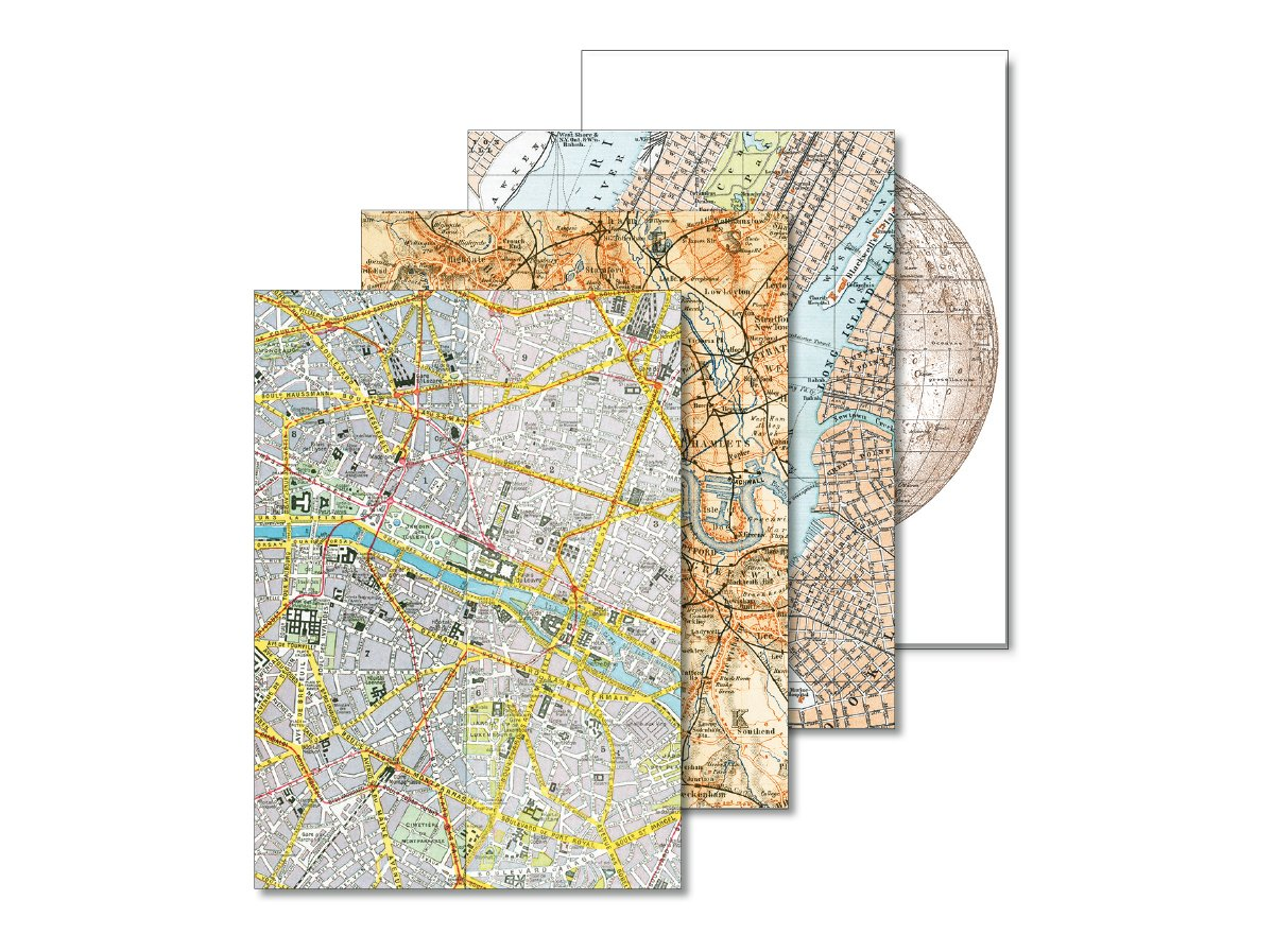 Letter Writing Set - Maps - Briefpapierset
