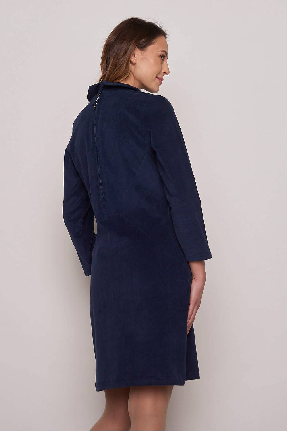 Cordkleid     navy