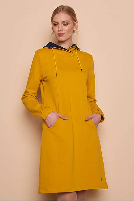 Sweatkleid LIEKE curry