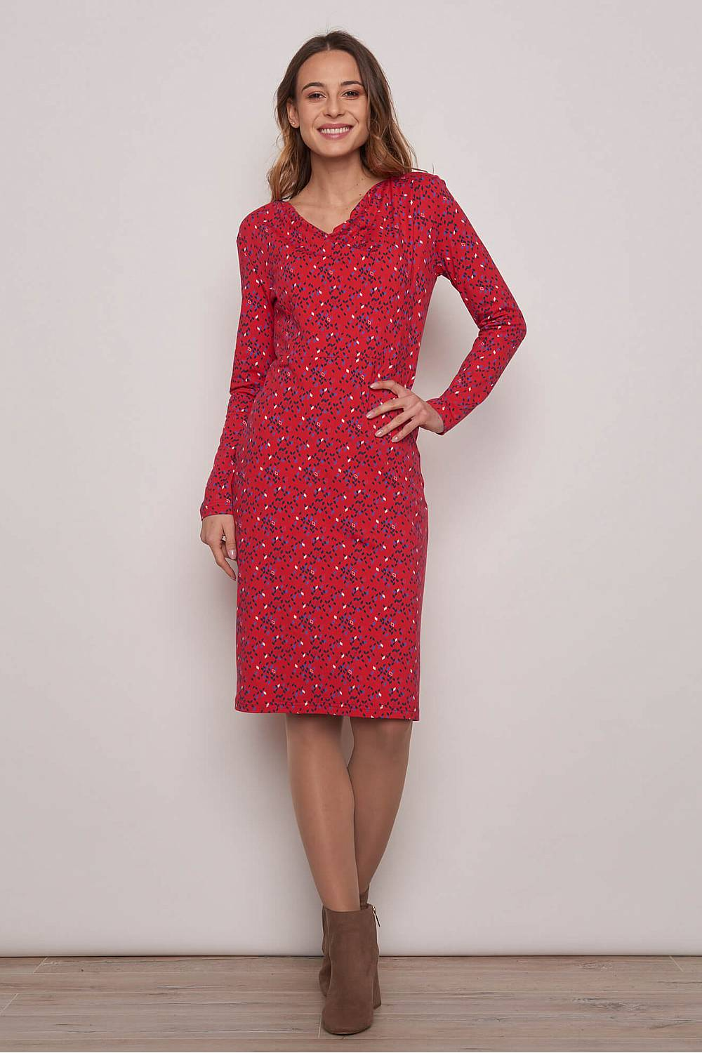 Jersey Dress ALAMAK red kite