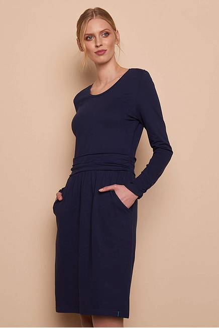 Jersey Dress LORETTA navy