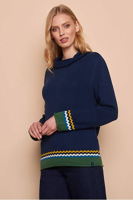 Knitted Sweater THORID navy
