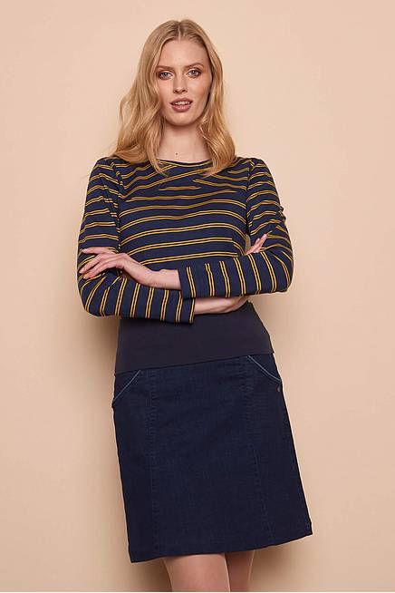 Slub Jersey Shirt EBBA  navy stripes