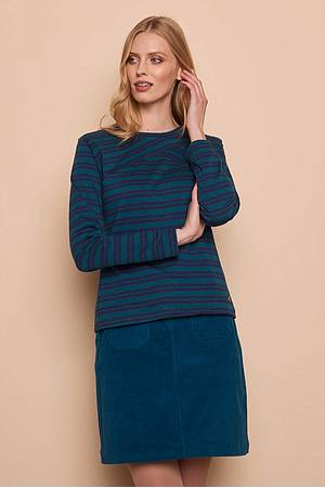 Slub Jersey Shirt EBBA  pine stripes